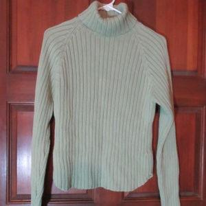 GAP Green Turtleneck Sweater Medium